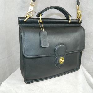 COACH Vintage WILLIS Bag #9927 Black Brass Costa